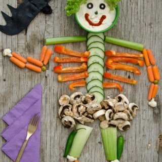 Arming the skeleton.How to make a Terrible Snack
