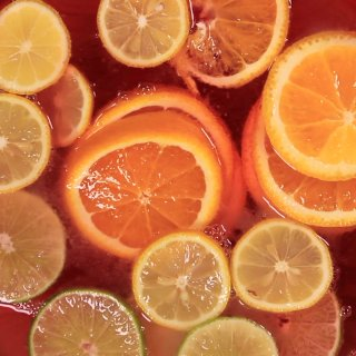 It incorporates citrus fruits.How to make a Punch for Halloween