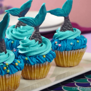 how to make mermaid tail cupcakesMermaid Tail Cupcakes