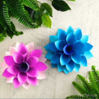 flowers made from sheets of paperPaper Dahlias