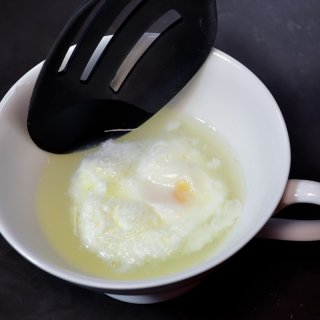 remove the water and serveHow to make poached egg in a microwave
